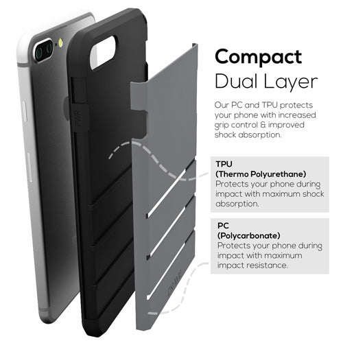 Grey Gray Apple iPhone 6 6s Plus Case Cover Crave Strong Guard var-4931112108073