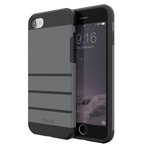 Grey Gray Apple iPhone 7 8 Case Cover Crave Strong Guard var-4931111911465