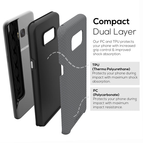 grey gray samsung galaxy s8 plus case cover by crave slate eight var-8116732985457