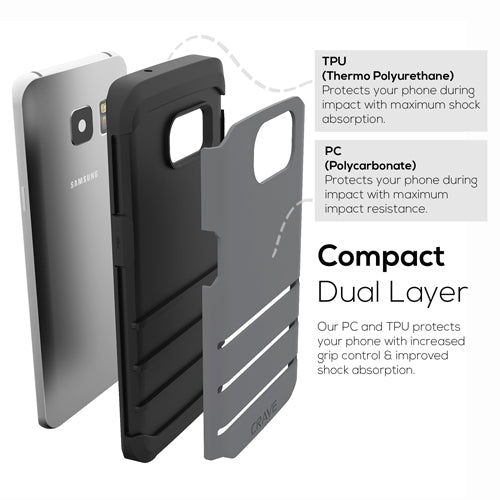 Grey Gray Samsung Galaxy S7 Edge Case Strong Cover by Crave var-8116749926513
