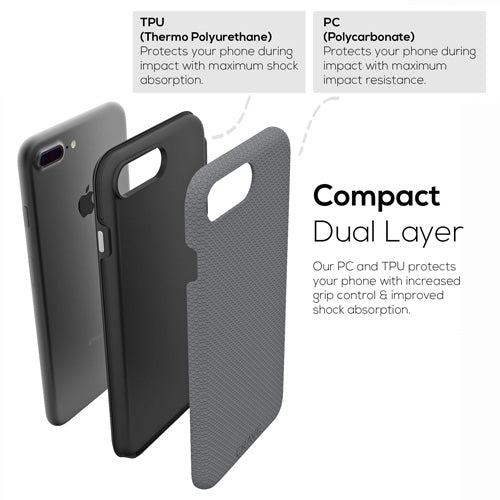 Grey iPhone 7 Plus Case Gray Apple 8 Plus Cover Seven Eight Crave var-8111182872689