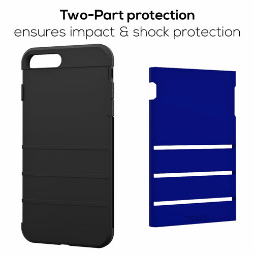 Navy Blue Apple iPhone 7 8 Plus Case Cover Crave Strong Guard var-4931111747625