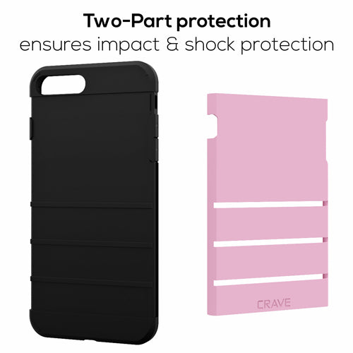 Pink Apple iPhone 6 6s Plus Case Cover Crave Strong Guard var-4931112173609