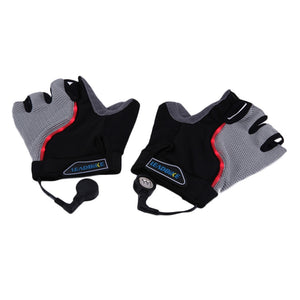 Bicycle Gloves Half Finger Anti-slip LED Light Gloves