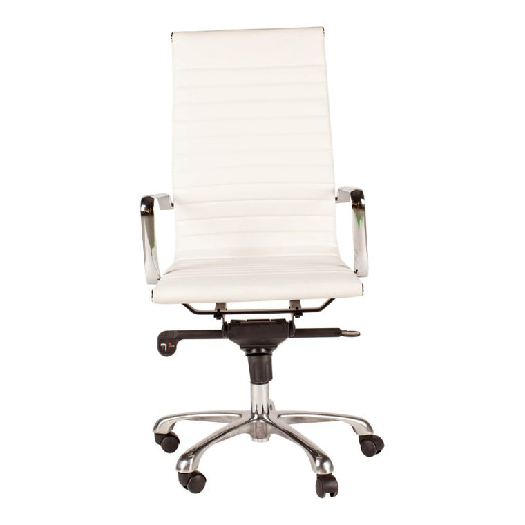 Alpha Office Chair High Back White-m2