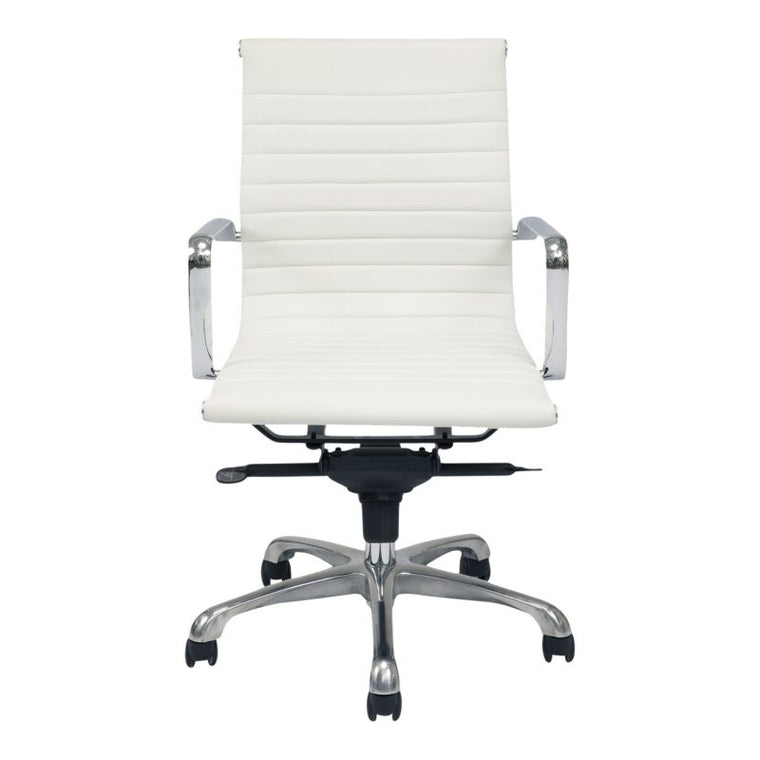 Alpha Office Chair Low Back White-m2