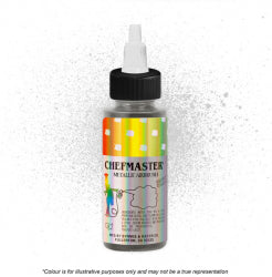 Chefmaster Airbrush Colour - Metallic Silver - 57gm