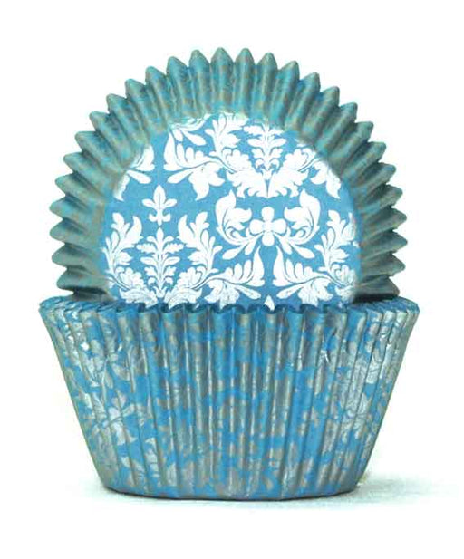 700 Baking Cups - High Tea Silver/Blue (pack of 100)