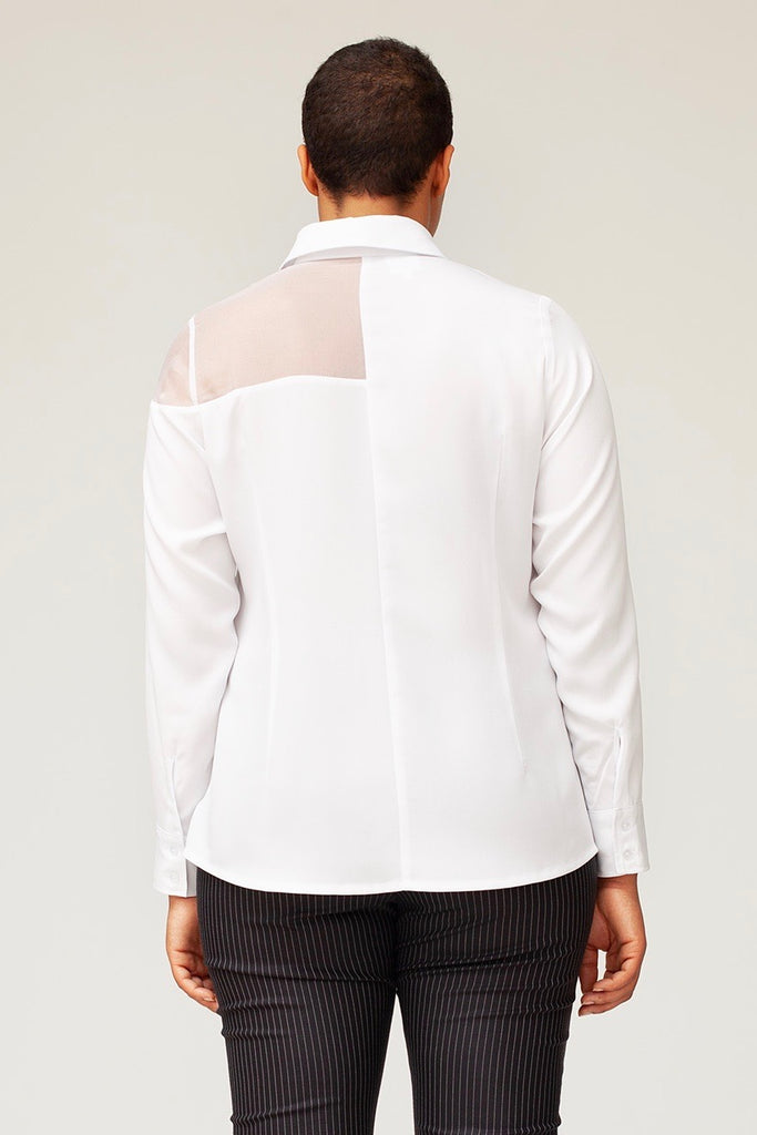 Van Der Nag Cut Out Blouse - White