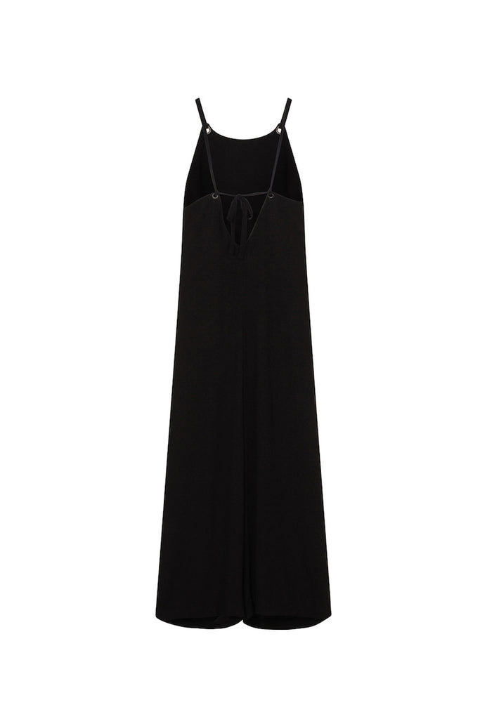 elvi wide leg jumpsuit black plus size