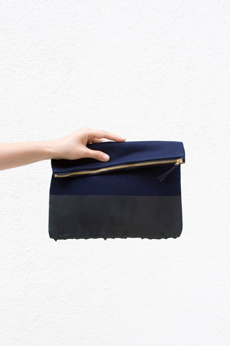 Wrk-shp Hold All Clutch - Navy