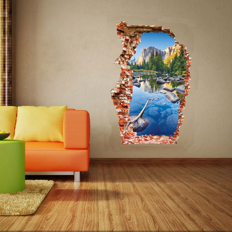 Breaken Wall 3D Wall Stickers Colorful
