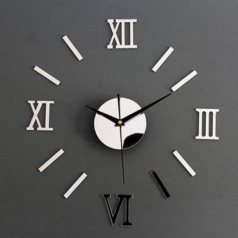 Modern Diy Interior Roman Wall Clock