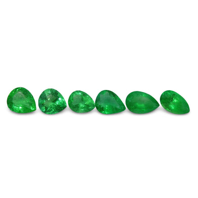 Colombian Emerald 3.74 cts 6st Pear WHOLESALE LOT