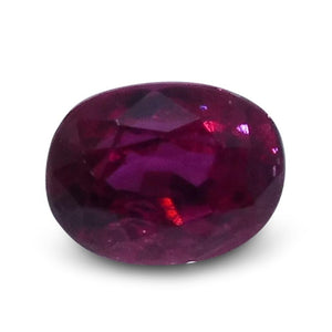 0.42 ct Oval Ruby