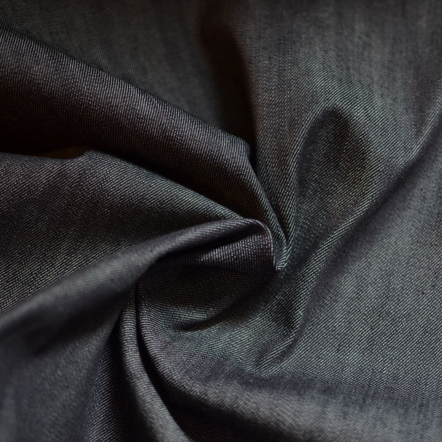 Remnant - Blackened Indigo – 100% Cotton Denim – .5 yard with swatch removed
