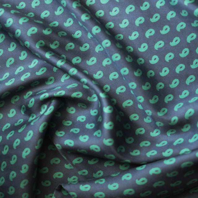 Comma Print Silk Twill – 1/2 yard