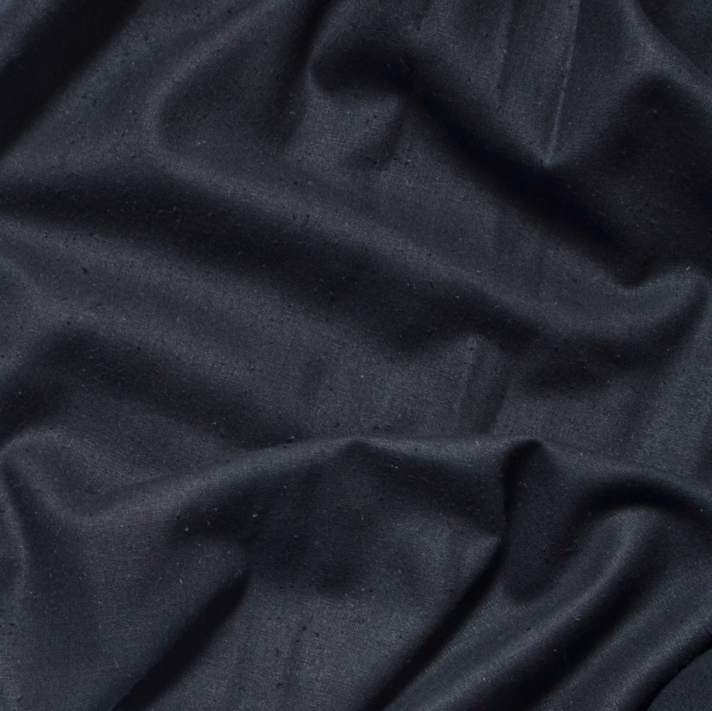 Black – Silva Silk Noil – 1/2 yard