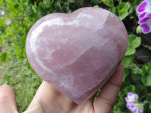 XL Sweet Pink Puffy ROSE QUARTZ Heart~Emotional Balancer, Attracts Love, Heart Chakra healer* - Earth Family Crystals