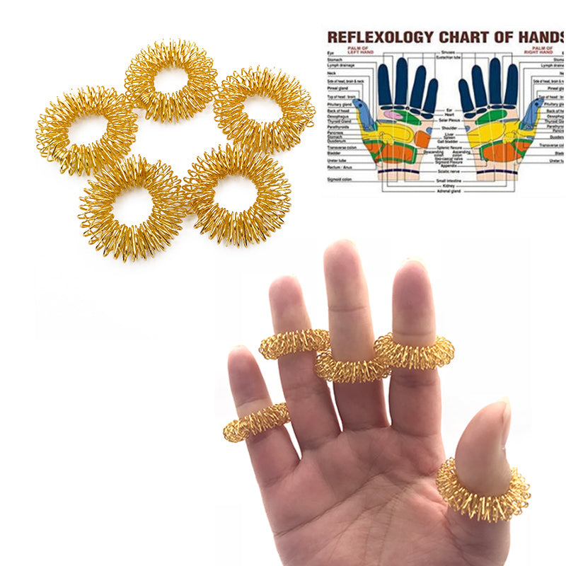 10Pcs Acupuncture Massage Rings