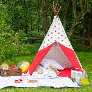 rainbow star teepee outdoors