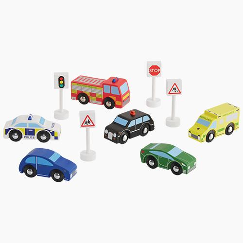 Wooden Cars & Vehicles (Set of 6).