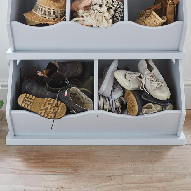 cloud grey double stacking storage trunk