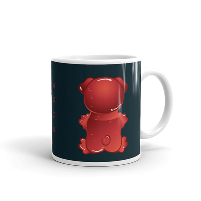"""Gummy Pug Red"" Ceramic Mug"