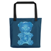 """Gummy Pug Blue"" All-Over Print Tote Bag"