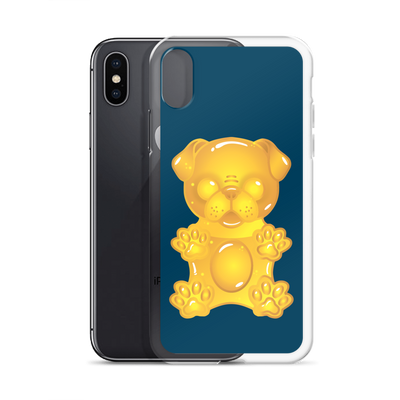 """Gummy Pug - Yellow"" Phone Case for iPhone"