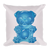 """Gummy Pug Blue"" Decorative Square Pillow Case With Stuffing"