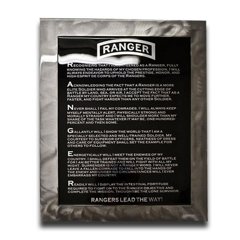 American Liquid Metal - Ranger Creed Sign