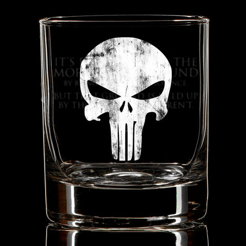 Moral High Ground Whiskey Glass
