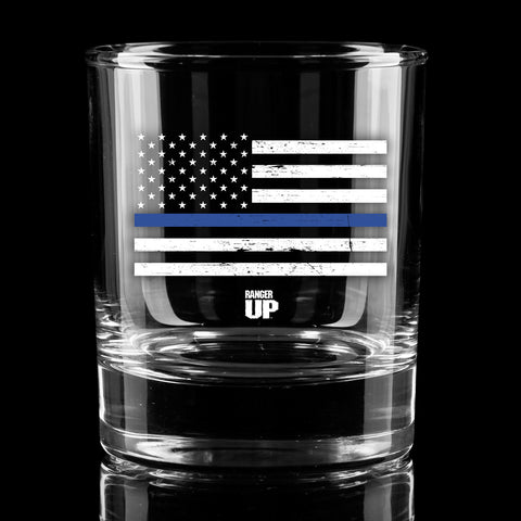 Thin Blue Line Whiskey Glass