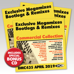 DMC COMMERCIAL COLLECTION 435  (3 X CD)  Exclusive Megamixes, Remixes & Two Trackers - April 2019 release - with BONUS CD