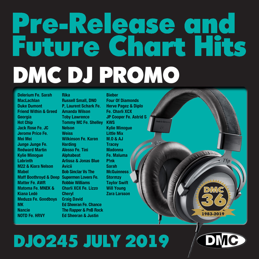 Check Out DJ PROMO 245 - PRE RELEASE AND FUTURE CHART HITS!  (2 x cd) - July 2019 release On The DMC Store