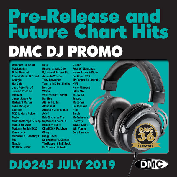 DJ PROMO 245 - PRE RELEASE AND FUTURE CHART HITS!  (2 x cd) - July 2019 release