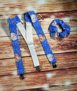 Frozen Suspenders With Matching Scrunchie or Hairbow - SweetLooks Collection