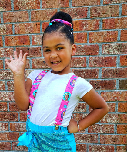 Princesses Suspenders With Matching Scrunchie or Hairbow - SweetLooks Collection