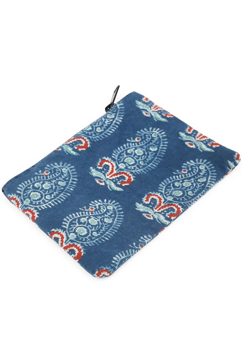 Paisley Block Print Coin Purse