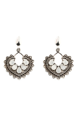 Heart Statement Filigree Earrings