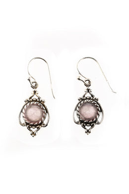 Fine Filigree Droplets Silver Earrings