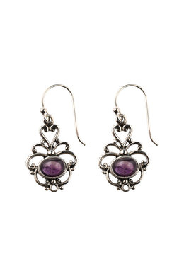 Filigree Swirl Droplets Silver Earrings