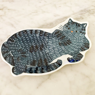 KATA KATA small dish (blue cat) - Mimoto Japanese Homewares & Design