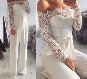 "Off Shoulder ""Sensual"" Lace Jumpsuit"