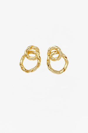 Strictly Speaking Earrings in Gold