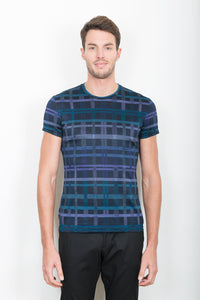 "TEE-SHIRT ""BASIC"" CARREAUX MULTICOLORES"