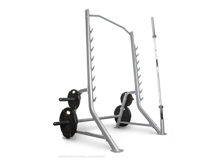 BodyCraft F460 Half Squat Rack with Bar & Plate Storage for Free Weights