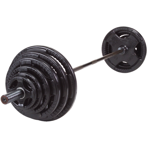 Olympic Bar W/ Rubber Plates Set