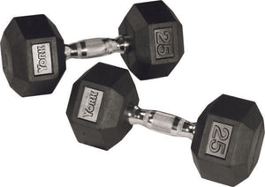 York Barbell Rubber Hex Dumbbell